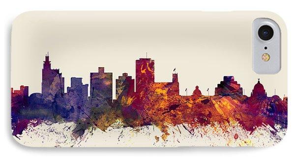 Jackson Mississippi Skyline IPhone Case by Michael Tompsett