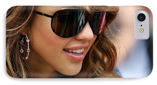 Jessica Alba iPhone 7 Case - Jessica Alba by Alice Kent