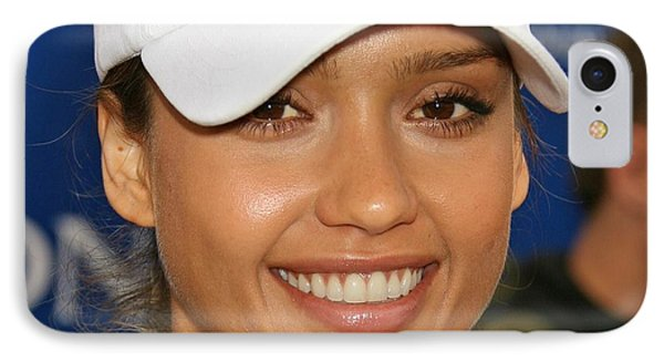 Jessica Alba iPhone 7 Case - Jessica Alba by Tatiania Laning