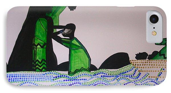 Jesus Walking On Water IPhone Case by Gloria Ssali