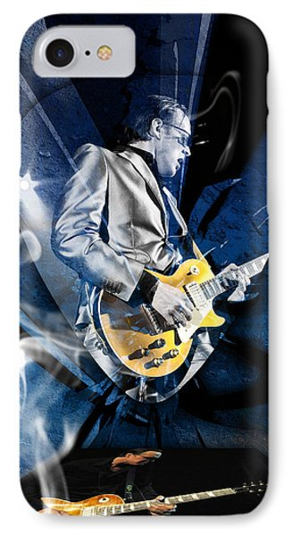 Joe Bonamassa Blues Guitarist Art Phone Case by Marvin Blaine