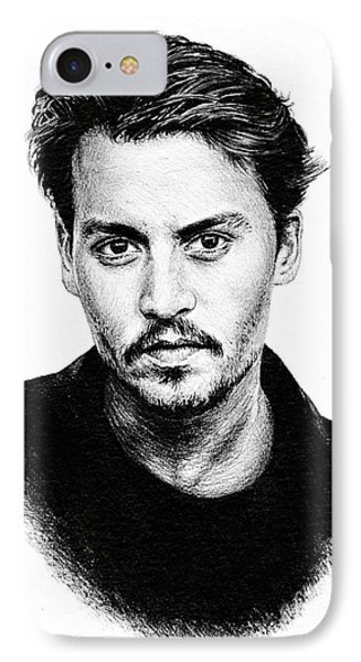 Johnny Depp IPhone 7 Case by Andrew Read
