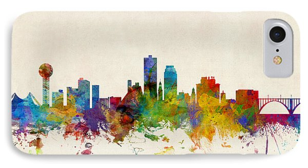 Knoxville Tennessee Skyline IPhone Case by Michael Tompsett