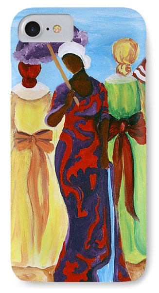 IPhone Case featuring the painting 3 Ladies by Diane Britton Dunham