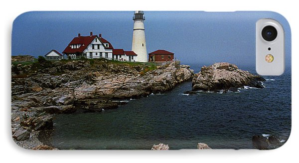 Lighthouse - Portland Head Maine Phone Case by Frank Romeo