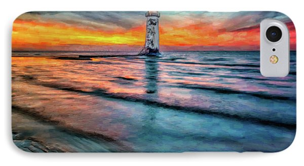 Light House Sunset IPhone Case by Adrian Evans