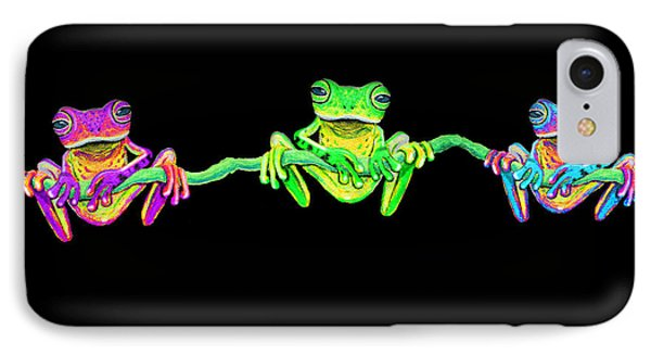 3 Little Frogs Phone Case by Nick Gustafson