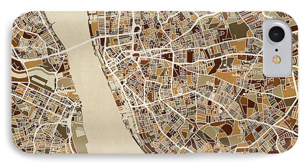 Liverpool England Street Map IPhone Case by Michael Tompsett