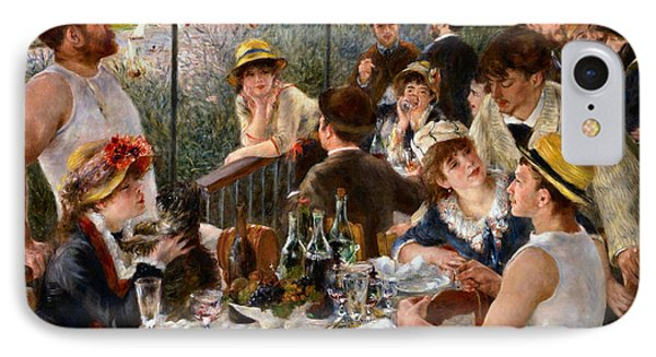 Luncheon Of The Boating Party IPhone Case by Auguste Renoir
