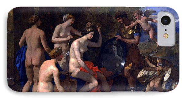 Mars And Venus IPhone Case by Nicolas Poussin