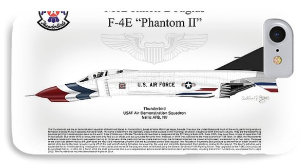 Mcdonnell Douglas F-4e Phantom II Thunderbird IPhone Case by Arthur Eggers