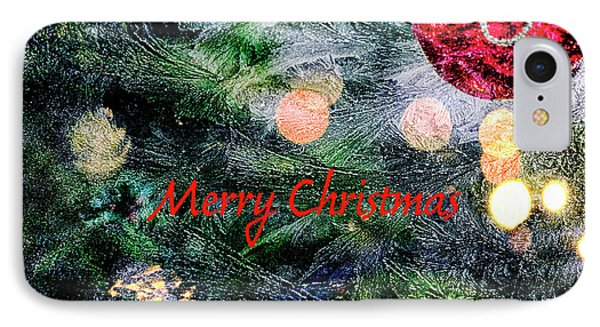Merry Christmas Background IPhone Case by Patricia Hofmeester
