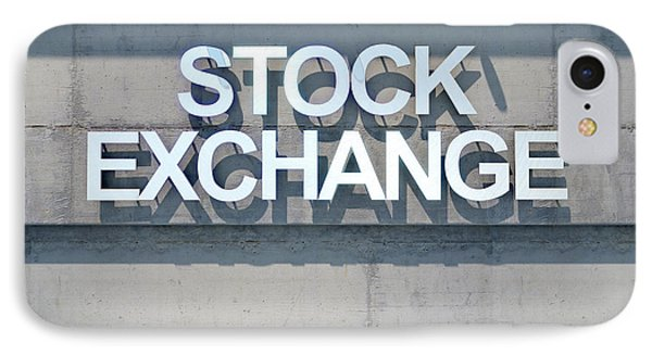 Modern Stock Exhange Signage IPhone Case by Allan Swart