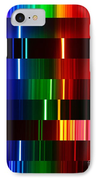 Montage Of Various Spectra IPhone Case by Ted Kinsman