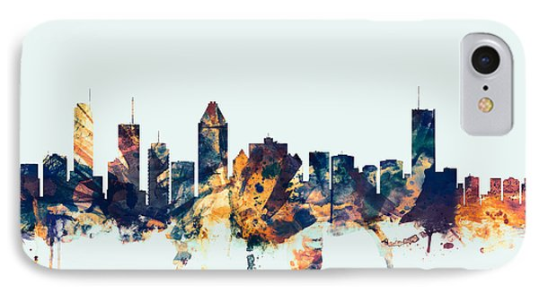 Montreal Canada Skyline IPhone Case