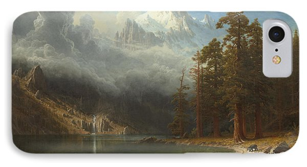 Mount Corcoran IPhone Case by Albert Bierstadt