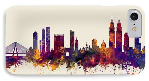 Mumbai Skyline India Bombay IPhone Case by Michael Tompsett