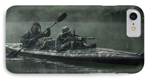 Navy Seals Navigate The Waters Phone Case by Tom Weber