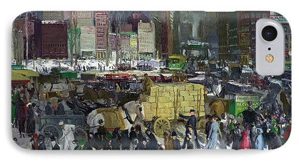 New York IPhone Case by George Bellows