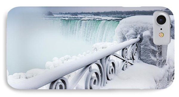 Niagara Falls Wintertime Scenic IPhone Case by Oleksiy Maksymenko