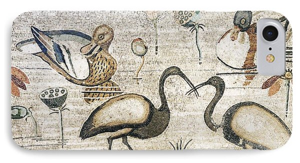 Nile Flora And Fauna, Roman Mosaic Phone Case by Sheila Terry