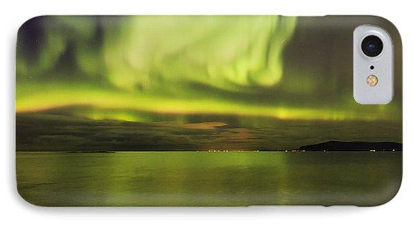 Northern Lights Reykjavik IPhone Case