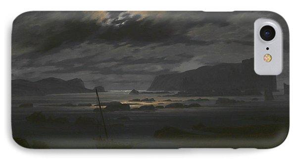 Northern Sea In The Moonlight IPhone Case by Caspar David Friedrich