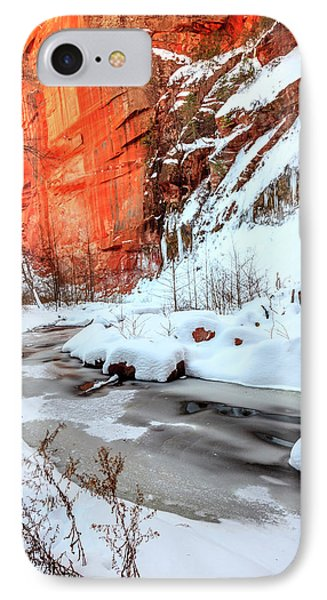 Oak Creek In Winter IPhone Case