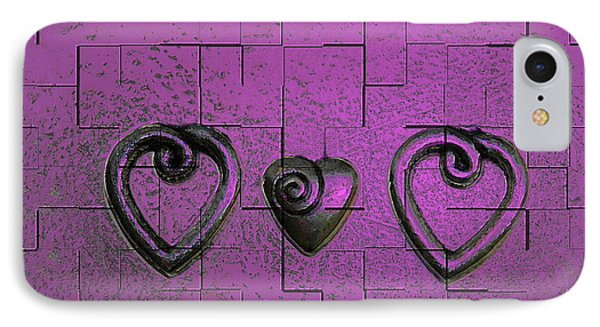 3 Of Hearts Phone Case by Linda Sannuti