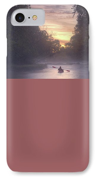 Paddling In Mist IPhone Case by Robert Charity
