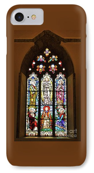 3 Pane Stained Glass In St. Nicholas Church, Galway IPhone Case by Poet's Eye