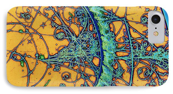 Particle Tracks IPhone Case by Patrice Loiez, Cern