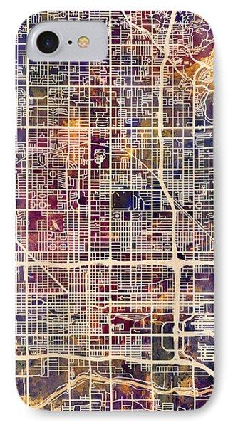 Phoenix iPhone 7 Case - Phoenix Arizona City Map by Michael Tompsett