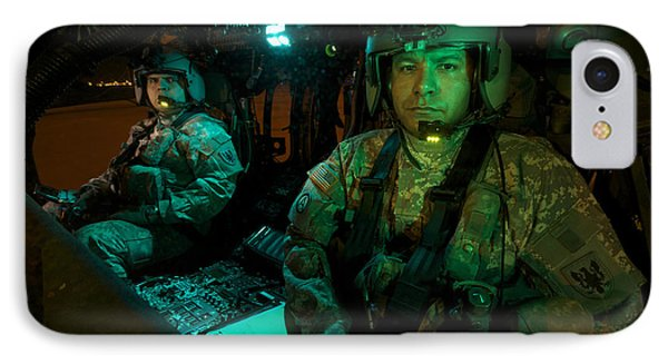 Pilots Sitting In The Cockpit IPhone Case