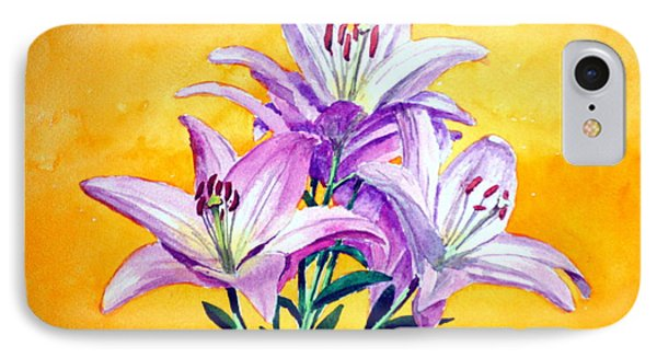 3 Pink Lilies Phone Case by Dennis Clark