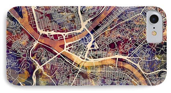 Pittsburgh Pennsylvania Street Map IPhone Case