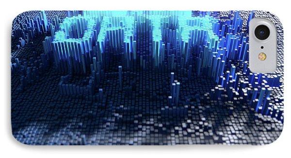 Pixel Big Data Concept IPhone Case