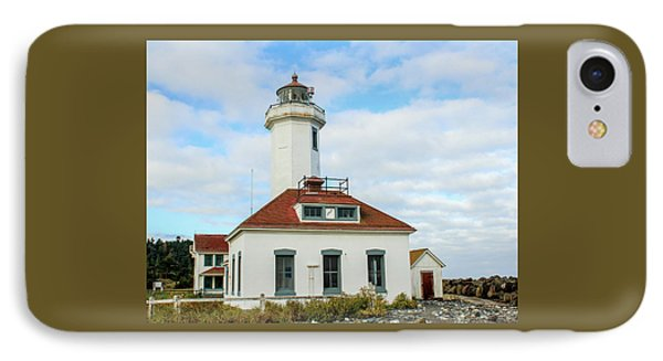 IPhone Case featuring the photograph Point Wilson Lighthouse by E Faithe Lester
