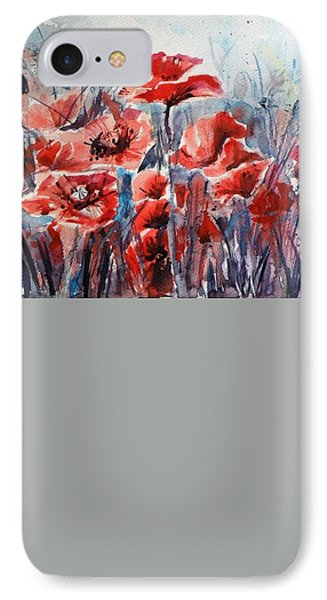 Poppies IPhone Case by Kovacs Anna Brigitta