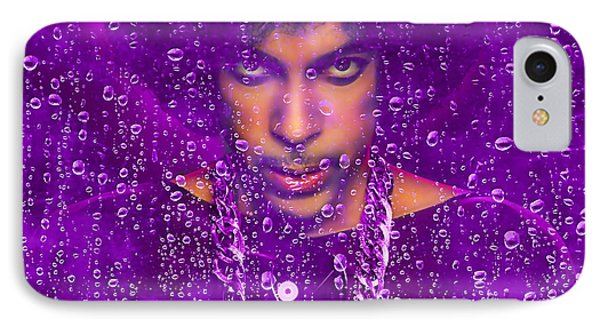 Prince Purple Rain Tribute IPhone Case by Marvin Blaine