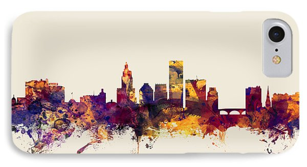 Providence Rhode Island Skyline IPhone Case by Michael Tompsett
