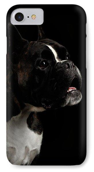 Purebred Boxer Dog Isolated On Black Background IPhone 7 Case