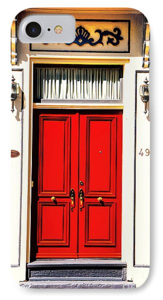 IPhone Case featuring the photograph Red Door by Rick Bragan
