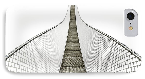Rope Bridge On White IPhone Case by Allan Swart