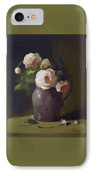 3 Roses In Silver Pitcher IPhone Case