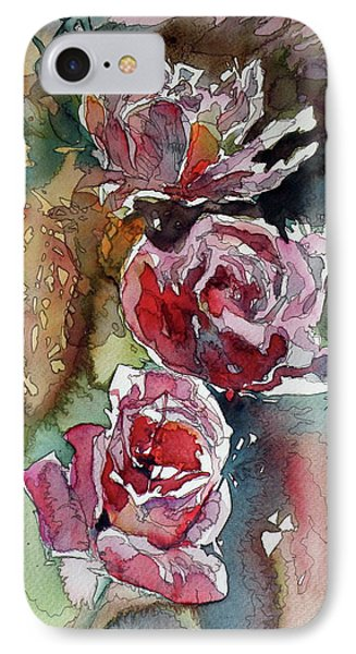 IPhone Case featuring the painting Roses by Kovacs Anna Brigitta