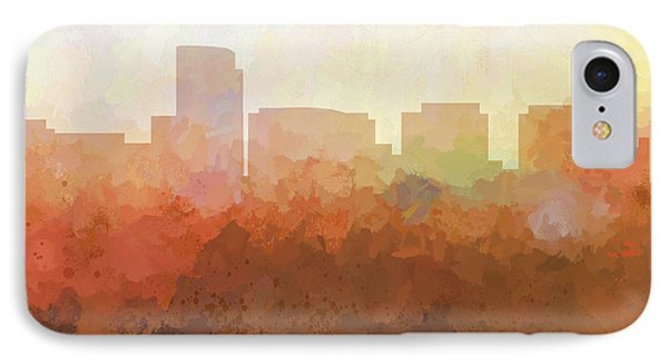 IPhone Case featuring the digital art Rosslyn Virginia Skyline by Marlene Watson