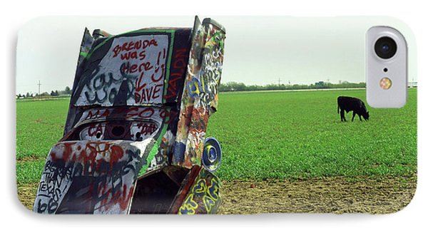 Route 66 - Cadillac Ranch Phone Case by Frank Romeo