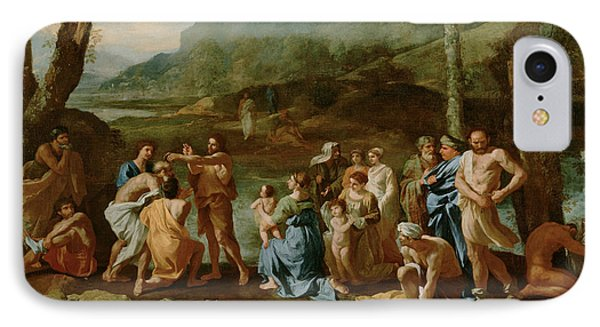 Saint John Baptizing In The River Jordan IPhone Case