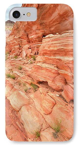 IPhone Case featuring the photograph Sandstone Wall In Valley Of Fire by Ray Mathis